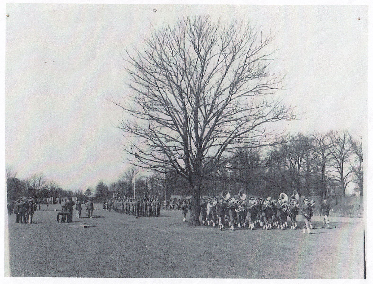 USAF band on parade. Copyright Bushy Park, the Royal Parks